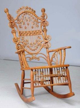 Early Wicker Rocking Chair.