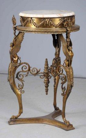 Marble Top Metal Table.
