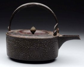 Early Cast Iron Teapot.