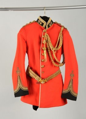 British Royal Guard Military Uniform With Hat.