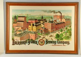 Eberhardt & Ober Brewing Co. Factory Scene.