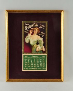 Beautiful 1907 Coca-cola Calendar.