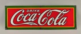 1920s Coca-cola Porcelain Sign.