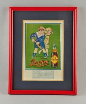 1926 Parlay Soda Advertising Calendar.