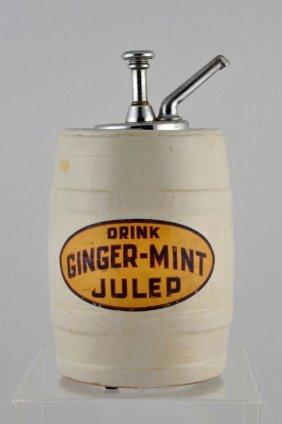 Drink Ginger Mint Julep Syrup Dispenser.