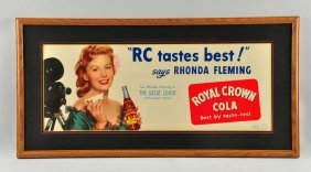 Royal Crown Cola Advertising Paper Poster.