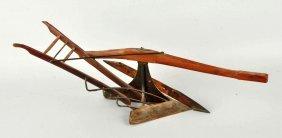 Salesman Sample Wood & Metal Horse Drawn Plow.