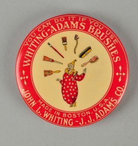 Whiting-adams Brushes Celluloid Pocket Mirror.