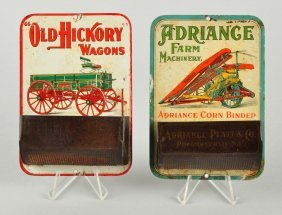 Lot Of 2: Agriculture Related Match Holders.