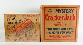 Lot Of 2: Cracker Jack Cardboard Display Boxes.