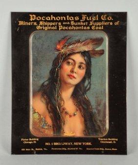 Pocahontas Fuel Co Tin Over Cardboard Sign.