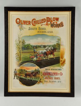 Oliver Chilled Plow Works Advertising Poster.