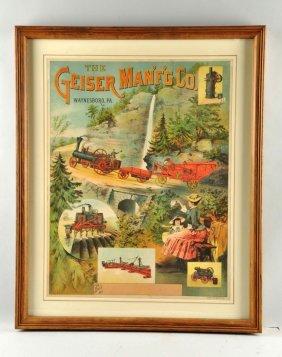 Geiser Mfg. Co. Advertising Poster.