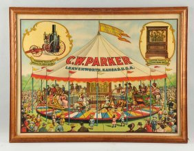 C.w. Parker Steam Riding Gallery Poster.