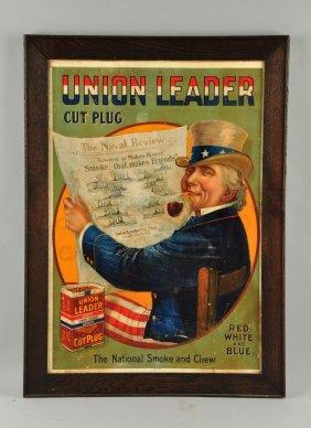 Union Leader Cut Plug Cardboard Sign.