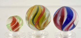 Lot Of 3: Handmade Marbles.
