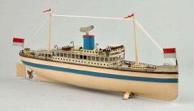 German Fleischmann Wind-up Toy Boat.