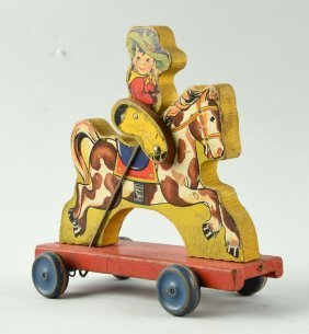 Fisher Price Paper On Wood No 430 Buddy Bronco Toy