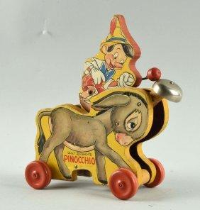 Fisher Price Paper On Wood Walt Disney Pinocchio.