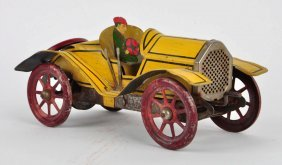 Early Gibbs Tin Litho Wind-up Automobile.