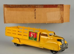 Marx Yellow Metal Coca-cola Truck #991.
