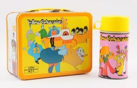 1968 Beatles Yellow Submarine Lunchbox And Thermos