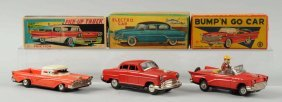 Lot Of 3: Japanese Tin Litho Automobiles.