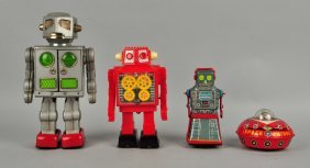 Lot Of 3 Japanese Battery Operated & Windup Robots