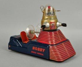 Vintage Japanese Tin Litho Robby Space Patrol.