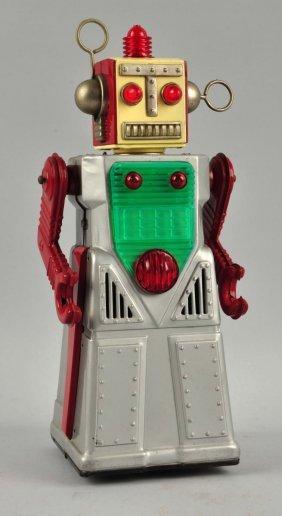Japanese Tin Litho Battery Op Radical Robot.