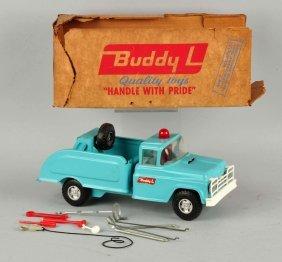 Pressed Steel Buddy-l Blue Flat Tire Wrecker.