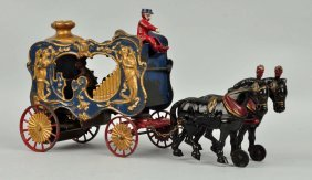 Hubley 1890's Early Mechanical Parade Of Horses.