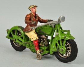 Cast Iron Indian Motorcycle Civillian Driver.
