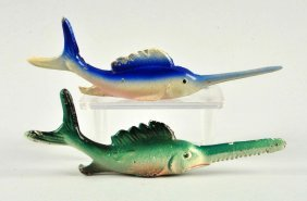 Lot Of 2: Cast Iron Assorted Fish Bottle Openers.
