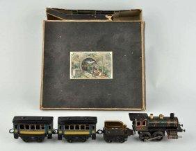 German Tin Litho Wind-up Kbn Passenger Train Set.