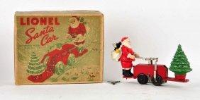 Lionel Clockwork Santa Handcar.