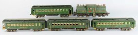 Lot Of 5: Lionel No. 381 Green State Set.