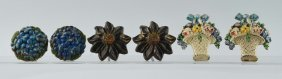 Cast Iron Assorted Flower Curtain Tie-backs.