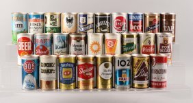Lot Of 28: 1960s Era Pull Top Beer Cans.