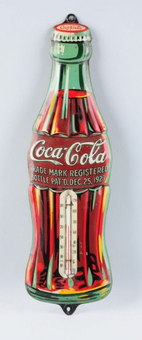 Early Diecut Embossed Coca-cola Thermometer.