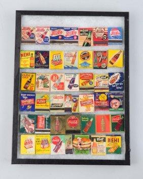 Set Of 42 Matchbooks Advertising Soft Drinks.