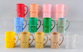 Lot Of 13: Mr. Peanut Plastic Mugs.