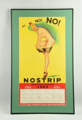 Nostrip Chemical Works Pin Up Girl Calendar.