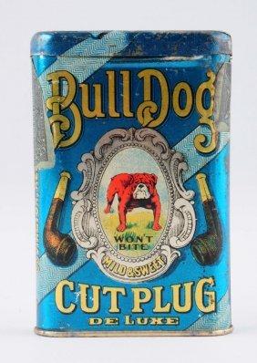 Bull Dog Cut Plug Tobacco Tin.