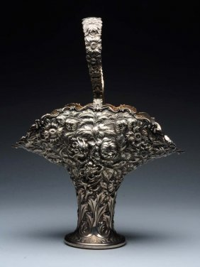 Stieff Repousse Sterling Flower Vase.