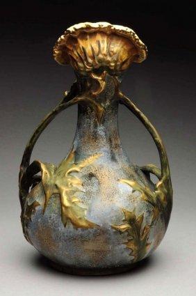 Amphora Ceramic Thistle Vase.