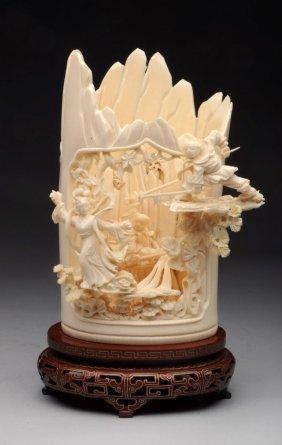 Impressive Large Carved Ivory.