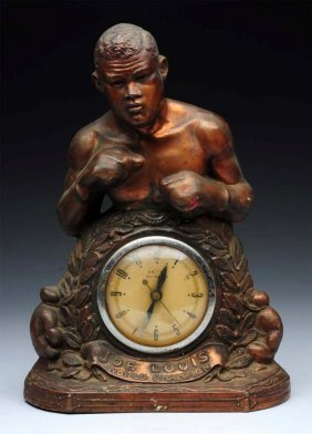 Joe Louis World Champion Bronze Clock.