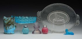 Lot Of 7: Vintage Glass Pieces.