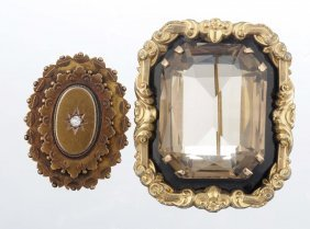 A Group Of Two Victorian Brooches.